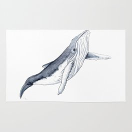 Baby humpback whale for children kid baby Rug