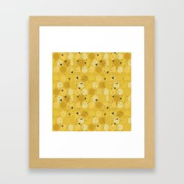 Cute Honeycomb Bee Pattern Framed Art Print