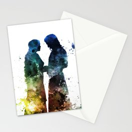 Watercolor Couple Stationery Cards