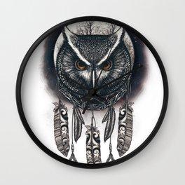 Dreamcatcher Owl Wall Clock