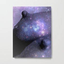 Galaxy Breasts / Galaxy Boobs Purple Metal Print