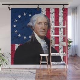 President George Washington and The American Flag Wall Mural