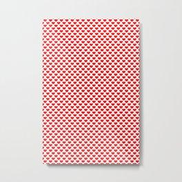 Red Heart Pattern Metal Print