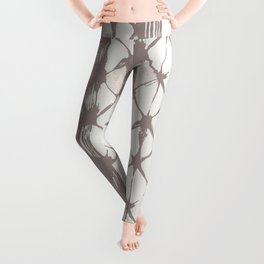 Simply Braided Chevron Red Earth on Lunar Gray Leggings