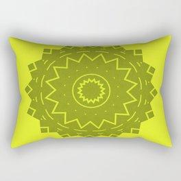 Yellow with grey Mandala Rectangular Pillow
