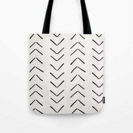 Mud Cloth Big Arrows in Cream Tote Bag