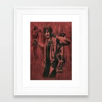 daryl dixon Framed Art Prints featuring Daryl Dixon by ArtCandy Studio