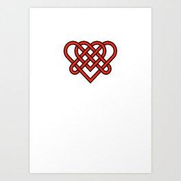 Celtic He Loves Me He Loves Me Knot Art Print