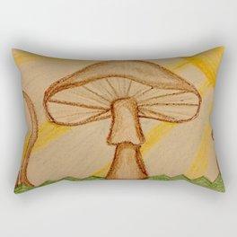 Mushrooms in the sun Rectangular Pillow