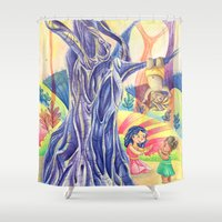india Shower Curtains featuring India by ArtByG