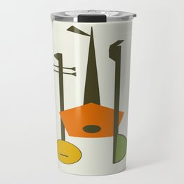 Mid-Century Modern Art Musical Strings Travel Mug