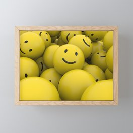 smile balls Framed Mini Art Print