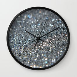Silver Dust Wall Clock