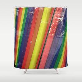 Rainbow Straws. Fashion Textures Shower Curtain