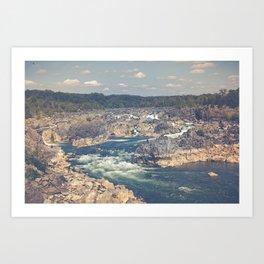 Great Falls Potomac River Art Print