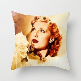 Anita Louise, Vintage Actress Throw Pillow