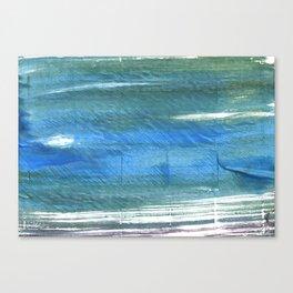 Teal blue watercolor Canvas Print