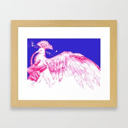 Like Soaring Thru the Heavens in Magenta Framed Art Print