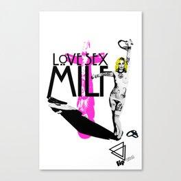 "Lip Bitch ""milf"" by Javier Largen Canvas Print"