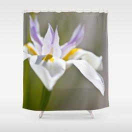White Iris, close up - Botanical Photography Shower Curtain