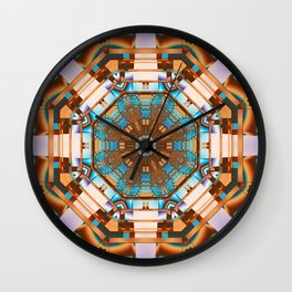 Geometric kaleidoscope with optical effects Wall Clock