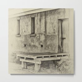 Antique plate style old loading dock Metal Print