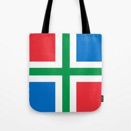 Groningen region Netherlands province Flag Tote Bag