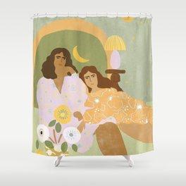 Violet Lamp Shower Curtain