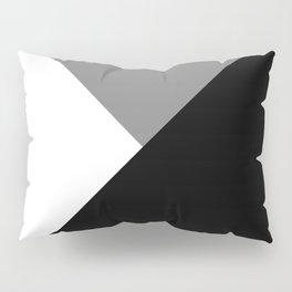 Black and White Angles Pillow Sham
