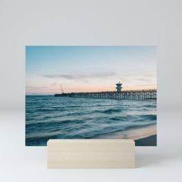 Seal Beach Pier Mini Art Print