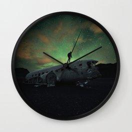 Black Beach Night Wall Clock