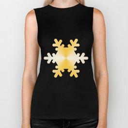 Gold Snowflake Biker Tank