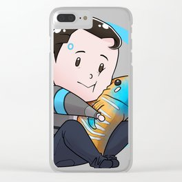 Tiny Connor Clear iPhone Case
