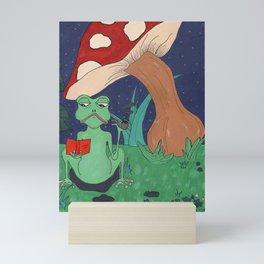 Smoking Frog Mini Art Print