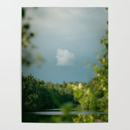 Stormy Skies over Holme Fen Poster