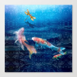 The Koi Damsel Canvas Print