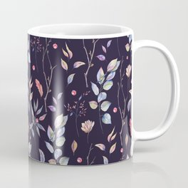 Watercolor natural pattern with twigs Coffee Mug