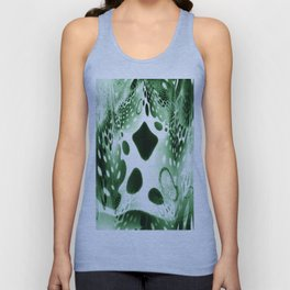Green Circles, Drops and Drips Unisex Tank Top