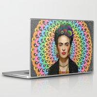 frida kahlo Laptop & iPad Skins featuring Frida Kahlo by Luna Portnoi