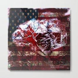 Patriotic American Barn Metal Print