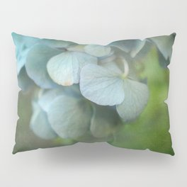 Soft Blue Hydrangea Petals Pillow Sham