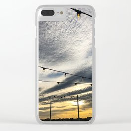 Rooftop Sunset (1) Clear iPhone Case
