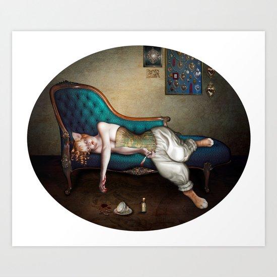 Gatta Morta Art Print