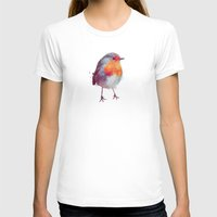 christmas T-shirts featuring Winter Robin by Amy Hamilton