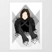 jon snow Art Prints featuring Jon Snow by itsamoose