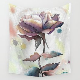 Mourning Rose Wall Tapestry