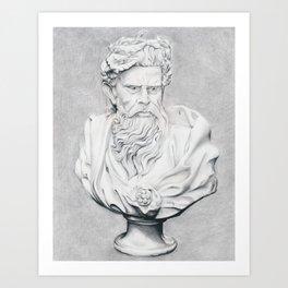 Zeus Bust Sculpture Art Print