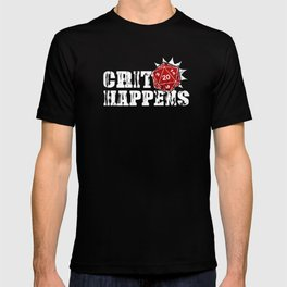Critical Happens Dice DND D20 Role Playing Game Unisex Shirt T-shirt