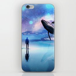 Walking with Whales iPhone Skin