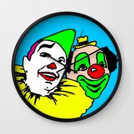 A pair of clowns, clown art, fairground, colorful, kids decor, home decor, Wall Clock